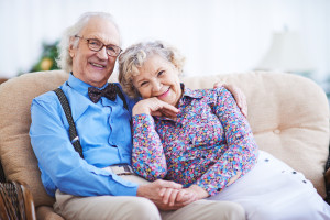 Two seniors still in love